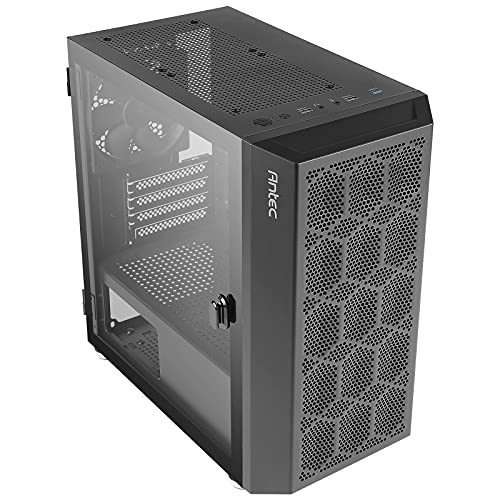 Antec NX200 M, Micro-ATX Tower, Mini-Tower Computer Case with 120mm Rear Fan Pre-Installed, Mesh Design in Front Panel Ventilated Airflow, NX Series, Black