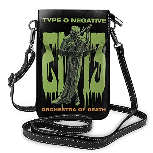 Type O Negative Women's Leather Small Cell Phone Purse Crossbody Bags Black One Size