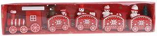 Fmingdou Christmas Wooden Train Tree Snowman Bear Ornament Xmas Party Home Favor Decor Kids Educational Toys Gift