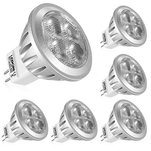LEDGLE GU4 MR11 LED 12V Reflektor LED Spot Strahler,3W ersetzt 36W Halogenlampen, 260LM,Warmweiß 2700K,Nicht dimmbar, 6er-Pack