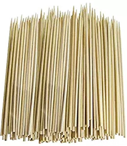 RZRZOO Thin Bamboo Skewers, 300 Piece