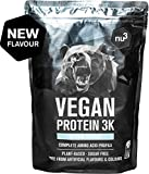 Proteine Vegane 3K - 1 Kg gusto neutrale - Proteine vegetali in polvere dei piselli, semi del girasole e riso – Integratore a base di 4 componenti - 72% di proteine - Informed Sport Certified - da nu3