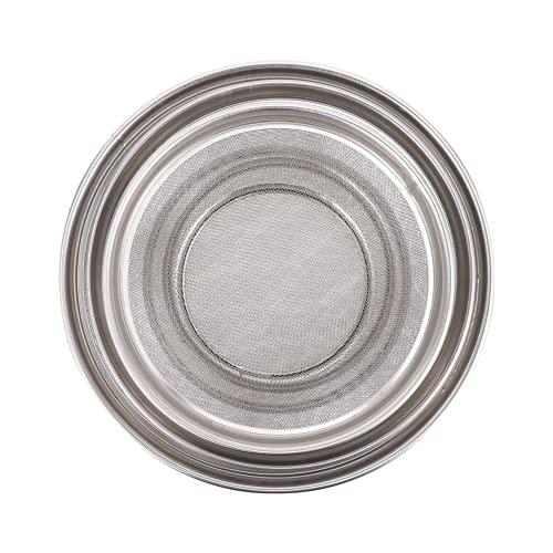 Hemoton Stainless Steel Strainer Colander Rice Wash Basket Washing Strainer Bowl Berry Colander Wash Basket for Vegetables Fruits Meat 3pcs Silver