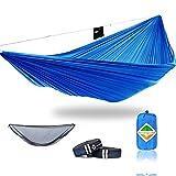 onewind XL Lightweight Camping Hammock Mosquito Net -Ulralight Tree Straps-2 Person Nylon Hammock Outdoors, Backyard- 2000LBS Breaking Strength Easy Set Up