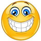 easydruck24de 1 Smiley-Aufkleber Smile I kfz_020 I rund Ø 9 cm I Emoticon Sticker lachend für Laptop Tür Motorrad Roller Auto I wetterfest