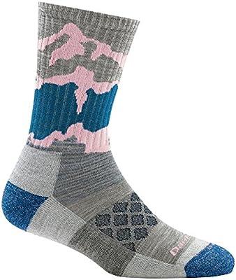 Darn Tough Three Peaks Micro Crew Light Cushion Sock - Women's Light Gray Medium