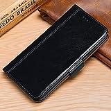 HHF Étui à rabat en cuir véritable pour Huawei P30 P20 avec porte-cartes et coque en TPU pour...