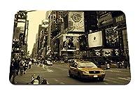 26cmx21cm マウスパッド (ニューヨークマンハッタンストリートカー人々忙しい) パターンカスタムの マウスパッド