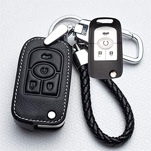 meDKO Funda de Cuero para Llaves de Coche, para Chevrolet Cruze Aveo Trax, para Opel Astra Corsa Meriva Zafira Antara J Mokka Insignia, para Accesorios de Buick