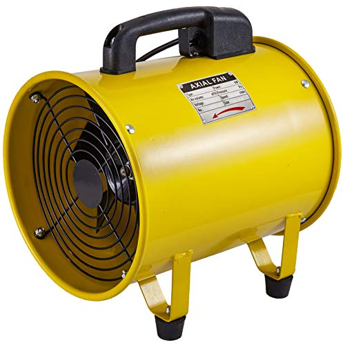 Husuper Ventilador Portátil de Ventilación Soplador Utilitario 1750-2580m³/ h de 10 Pulgadas Ideal para Áreas de Acceso Limitado en Espacios Reducidos, Áticos y Sótanos, extractor helicoidal
