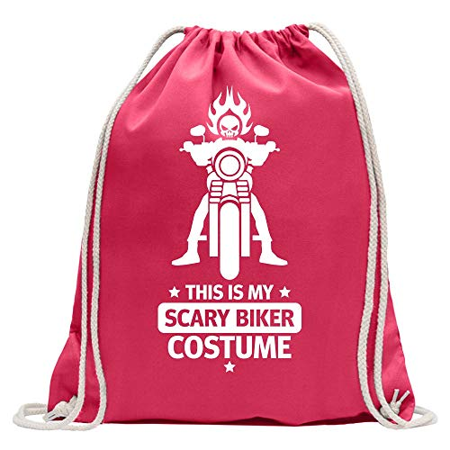 This is Scary Biker Costume - Mochila de deporte, algodón, con correa, rosa, Talla única
