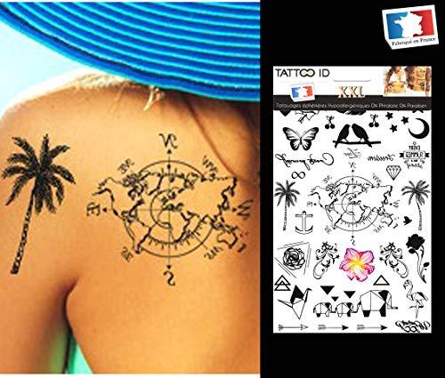 Ephemeres Tattoo Plumes