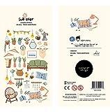 YCYY Decoración gráfica Coreana Pasta DIY Sticker Sweet Home Sweet Home