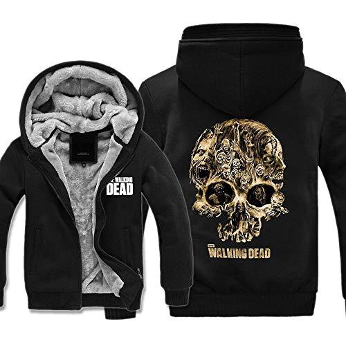 Kapuzenpullover The Walking Dead Sweater Schädel-Druck Plus Samt Sweatshirts Hooded Cardigan Jacke warme Tops Damen Herren 1-XL