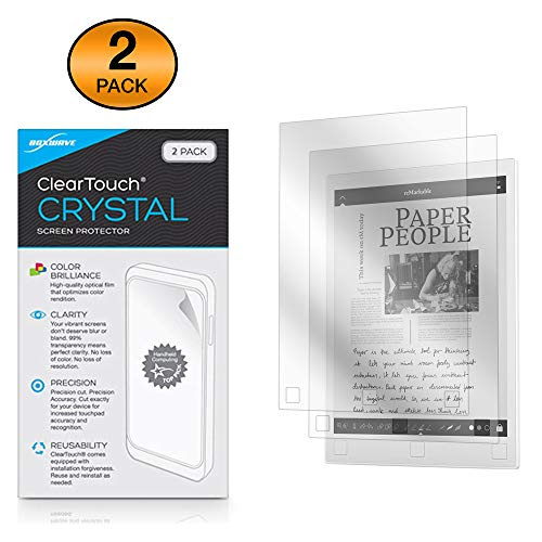ReMarkable Paper Tablet Screen Protector, BoxWave® [ClearTouch Crystal (2-Pack)] HD Film Skin - Beschermt tegen krassen voor reMarkable Paper Tablet