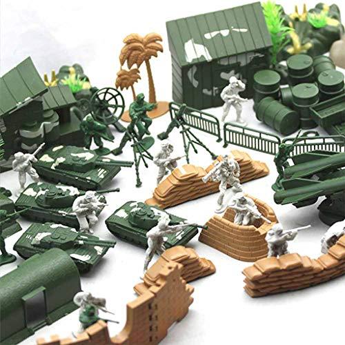 90-delige Set Militair Speelgoed Met Speelgoedsoldaatjes, Tanks, Vliegtuigen, Vlaggen, Draagtassen En Slagveldaccessoires Speelgoedset Plastic Leger Radar Tank Obstakel Soldaten Oorlogswapens