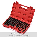"""CASOMAN 3/8"""" Drive Impact Socket Set, 48 Piece Standard SAE and Metric Sizes (5/16-Inch to 3/4-Inch and 8-22 mm), 6 Point, Cr-V Steel Socket Set"""