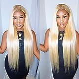 Blonde Perücke 13x4 Lace Front 613 Wig Straight 100% Brasilianisches Virgin Hair Unprocessed With Baby Haare Natürlicher Haaransatz 9a Grade For Women 16 Zoll