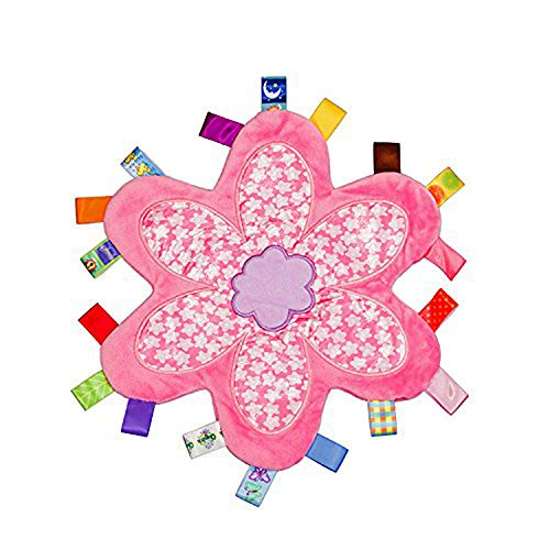 G-Tree infantile Respirant Taggy Couverture heure du coucher du nouveau-né bébé Soft Touch en peluche de sécurité confortable taggie Présent - Fleur Taggies couverture rose