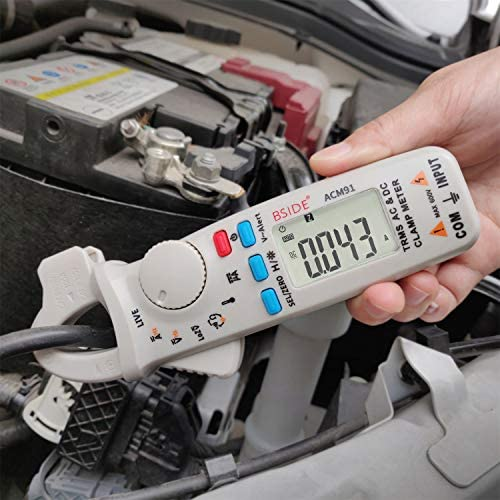 Bside 1mA DC AC Clamp Meter True RMS 6000 Counts Temperature Low Impedance Voltage Amp V Alert product image