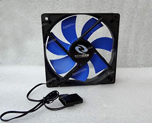 Ayazscmbs Enfriador Ventilador Compatibles para Raidmax 120mm x 25mm Quiet Ventilador Blue/Black 3 Pin + 4 Pin Molex w/Speed Control