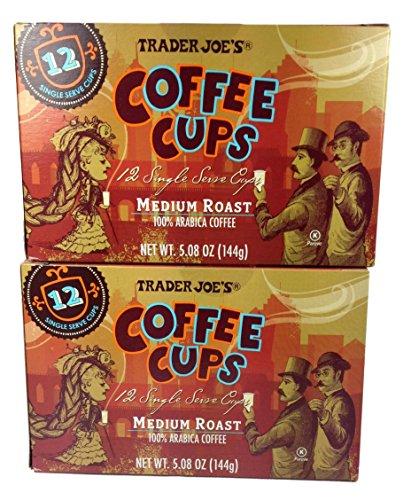 Trader Joe's Coffee Cups Medium Roast 100% Arabica Coffee 5.08 Oz. (Pack of 2)
