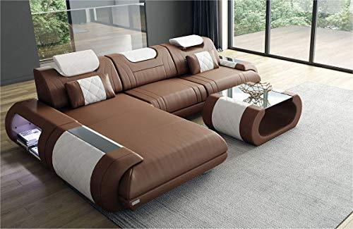 Sofa Dreams Designer Ledersofa Rimini als Ecksofa in der L Form