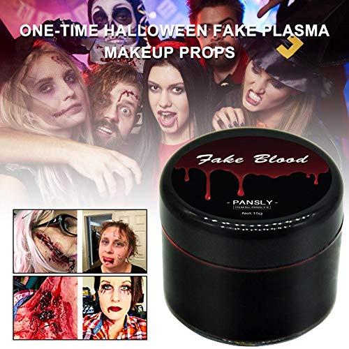 iBàste Halloween Maquillaje Zombi Maquillaje no tóxico Falso Plasma Maquillaje Cosplay Sangre Color Rostro Cuerpo Pintar Cicatrices Quetschung Partido Vampiro decoración entregas