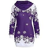 DOLDOA Weihnachts Pullover Elegante Oberteil Christmas Sweater Damen Geschenk