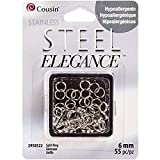 Cousin Corporation of America SS29505-22 6mm Stainless Steel Split Ring - 55pc