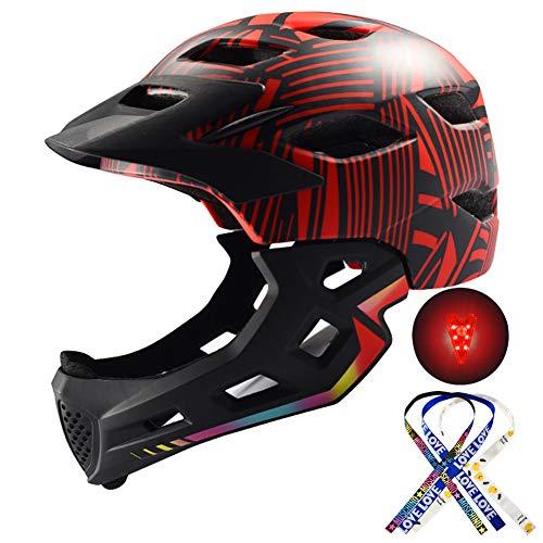 RTGE Bicicleta para niños Casco Integral Seguridad para niños Montar en patineta...