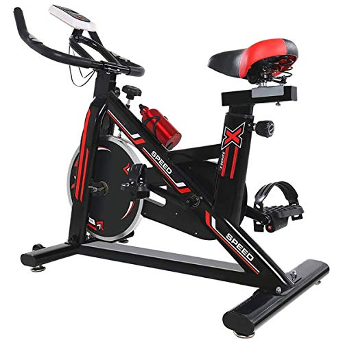 Indoor Cycling Heimtrainer Einstellbare Sitz Cardio Workout Fahrrad Fitness Erweiterte Flywheel für Home Gym - 200kg Last