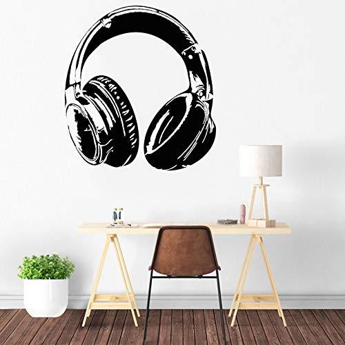 Música Auriculares Juego Auriculares Musical Adolescente Amante Inicio Etiqueta de la pared Calcomanía de vinilo Dormitorio de niño Sala de juegos Estudio Club Oficina Decoración para el hogar Mu