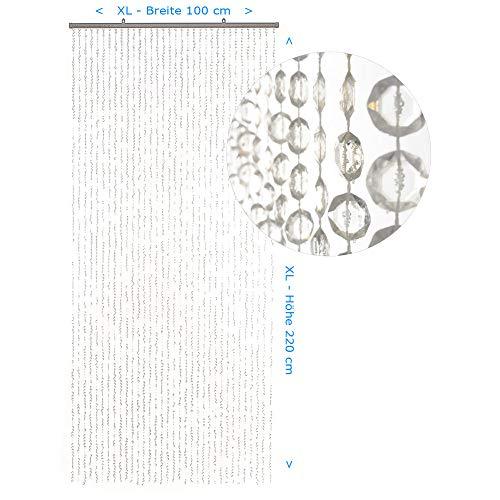 HAB & GUT Türvorhang DIAMANTEN klar XL 100 x 220 Perlenvorhang Pailettenvorhang