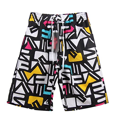 YOUJIA Pantaloncini Da Surf Casual Boxer Da Mare Shorts Per Uomo (Lettera, XL)