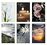 Edition Seidel Set 6 exklusive Premium Trauerkarten/Beileidskarten mit Umschlag. Trauerkarte Beileidskarte mit Spruch schreiben (Doppelkarten/Klappkarten mit Briefumschlag)