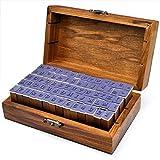 Beel Fast de Madera Sello de Goma Set Box–Sellos de Madera (70Piezas Alfabeto Letras Stamp Letters