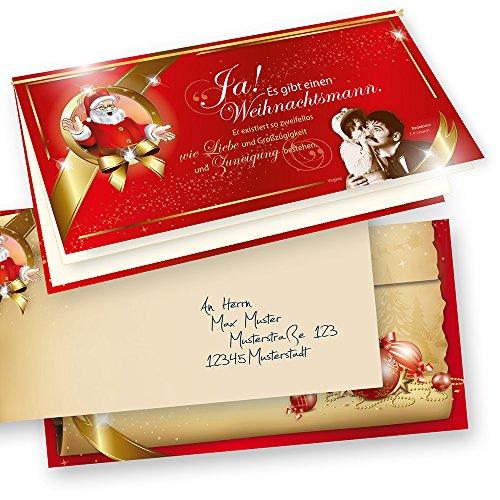 TATMOTIVE PREMIUM Top-Qualität Weihnachtskarten Klappkarten Grußkarten Rührende Weihnachtsgeschichte 10-er Sets, Weihnachten Vintage Retro + Umschlag