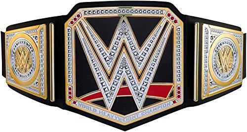WWE Mattel Y7011 - Championship Gürtel, verstellbar mit Metallapplikationen