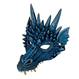 iSunday Halloween Maske 3D Drachen Cosplay Kostüm für Herren Damen Karneval-Party Mardi Gras - Blau