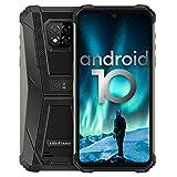 Écran 6,1 Pouces 4Go+64Go Octa-Core Telephone Portable 4G, Ulefone Armor 8 Smartphone Incassable Androud 10 5580 mAh IP68 / IP69K étanche Antichoc, Double SIM Débloqués Smartphone GPS OTG NFC(Noir)