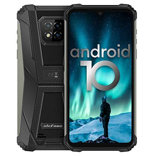 Outdoor Handys, Ulefone Armor 8 Android 10 Smartphones, Schutzart IP68/IP69K, Qcta-Core-Prozessor, 4GB RAM, 64GB ROM, 16MP Hauptkamera, 8MP Frontkamera, 6,1-Zoll-Bildschirm, 5800mAh Batterie - Schwarz