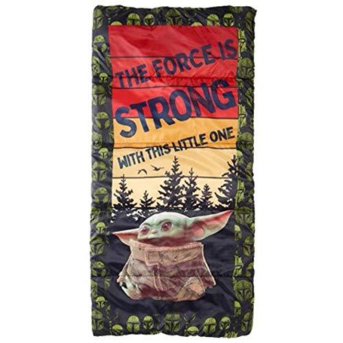 Exxel Outdoors Star Wars Mandolorian Sleeping Bag The Child Baby Yoda Disney Multi Use as Blanket