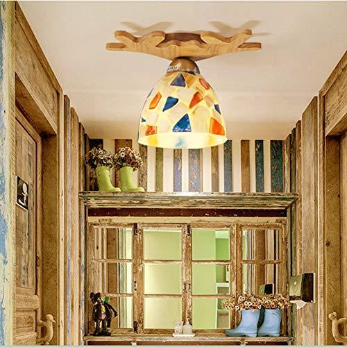 LN Woonkamer slaapkamer gang verlichting, huishouden plafondlamp inbouw plafondverlichting massief houten glazen lampen woonkamer lampen verlichting gang lichten zonnebril massief hout