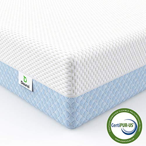Dourxi Crib Mattress Dual Sided Comfort Memory Foam Toddler Bed