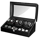 Sepano Automatic Watch Winder Collector I, 6 Watch Winder with 7 Storage Case and Quiet Mabuchi Motor, Large Capacity