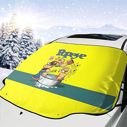 Wimpy Pop-eye Sail-or Adventure Comics The 1940s Volume Magic Full Protection Cubierta para parabrisas delantero de coche, resistente al sol lavable