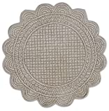 Blanc Mariclò Tovaglietta Americana, Velluto Avorio, 40 cm, 100% Cotone