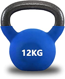 Kettlebells Recubiertos de Vinilo Peso Disponible: 8KG, 10KG, 12KG, Kettlebell Weight Set Comfort Grip Mango Ancho para El...