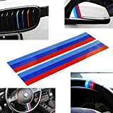 iJDMTOY (2 M-Colored Stripe Decal Sticker Compatible with BMW Exterior or...